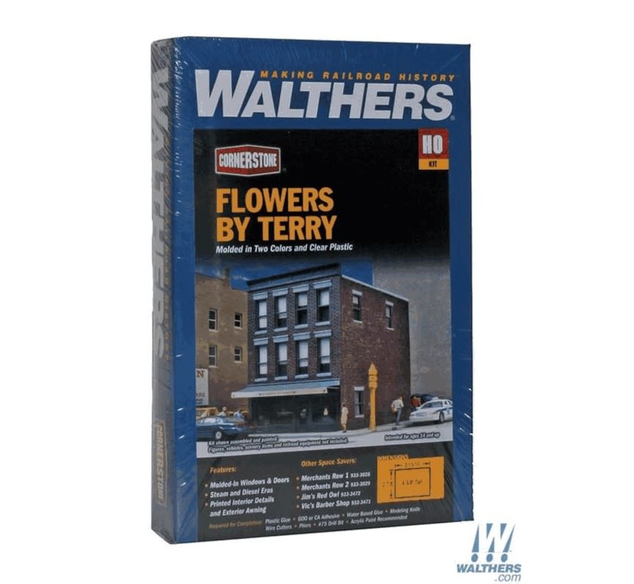 Walthers : HO Flowers by Terry Kit