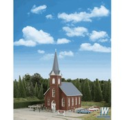 WALTHERS WALT-933-3496 - Walthers : HO Brick Church Kit