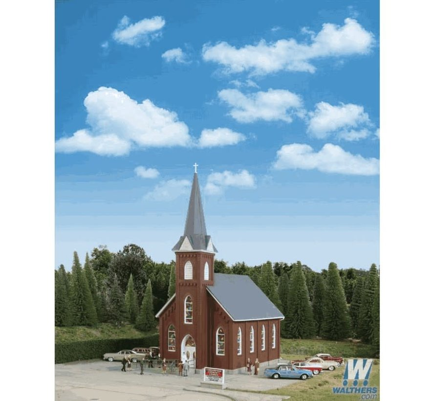 Walthers : HO Brick Church Kit