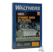 WALTHERS Walthers : HO Storage Shed on Pilings