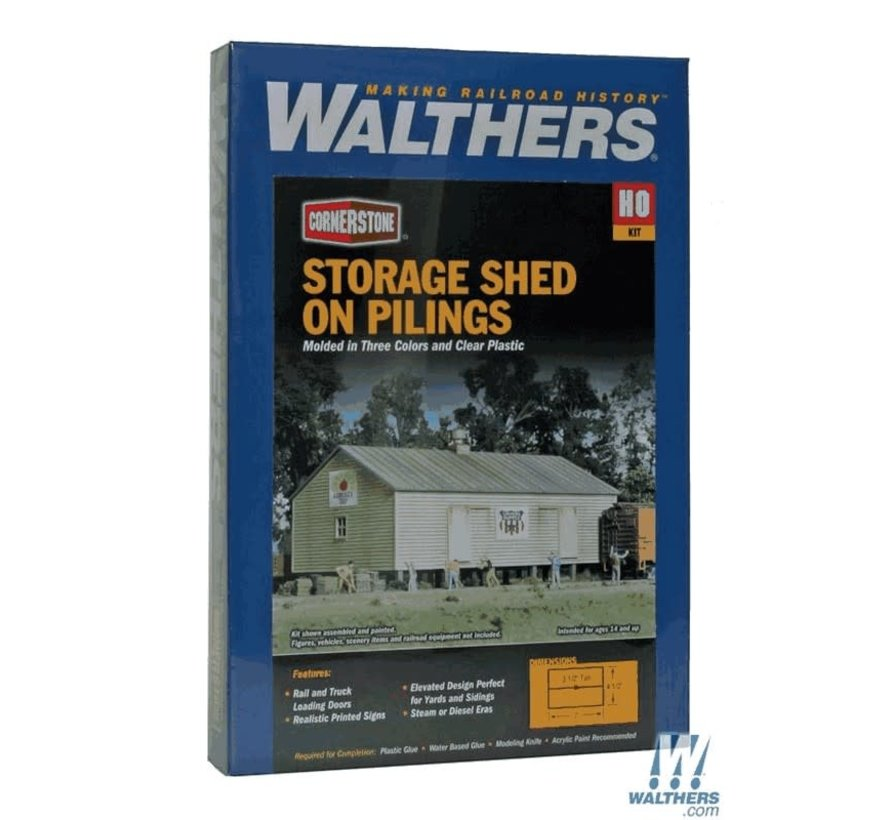 Walthers : HO Storage Shed on Pilings