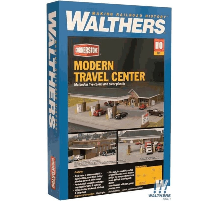 Walthers : HO Modern Travel Center Kit