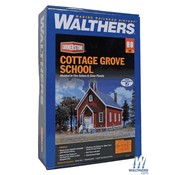 WALTHERS WALT-933-3656 - Walthers : HO Cottage Grove School Kit