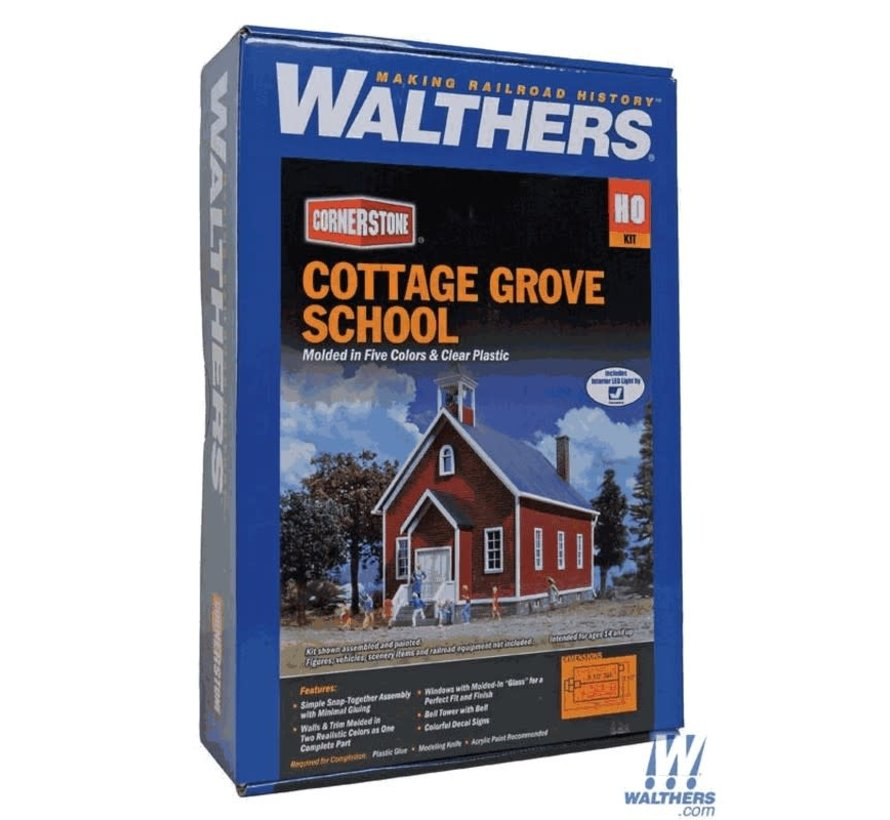 Walthers : HO Cottage Grove School Kit