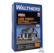 WALTHERS WALT-933-3657 - Walthers : HO Lake Forest Cottage w/Acc