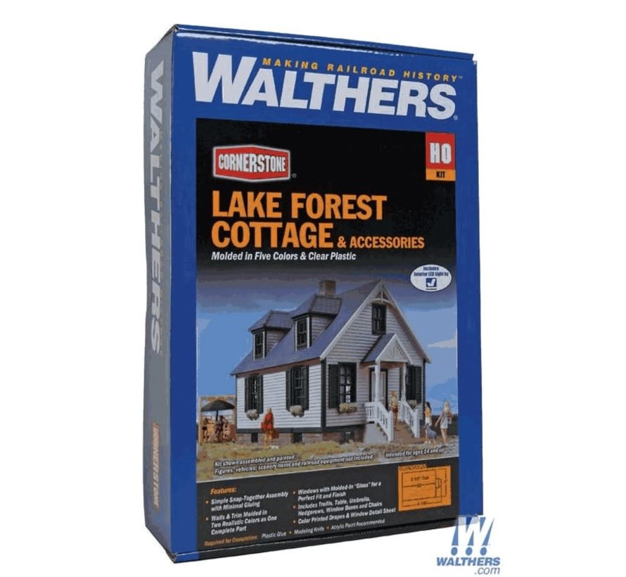 Walthers : HO Lake Forest Cottage w/Acc