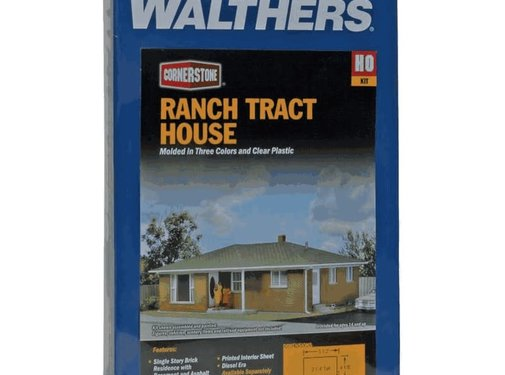 WALTHERS Walthers : HO Ranch Tract House Kit