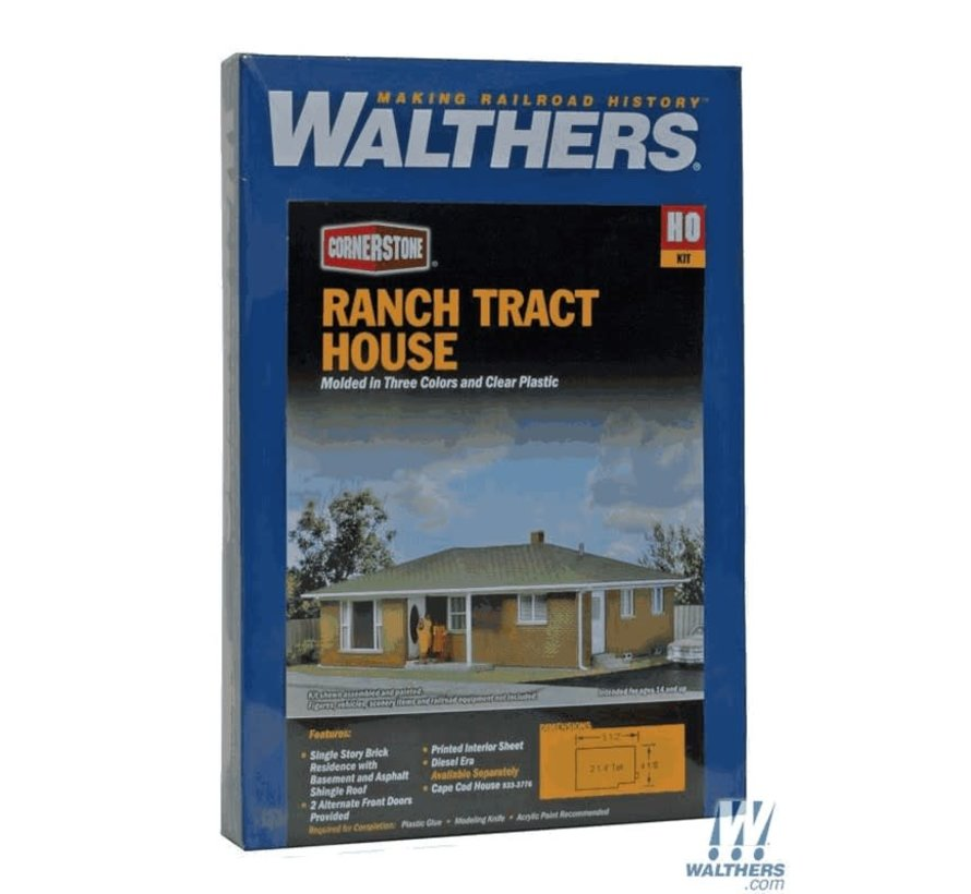 Walthers : HO Ranch Tract House Kit