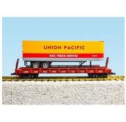 USA TRAINS USA Trains : G UP Piggy Back Flat Car