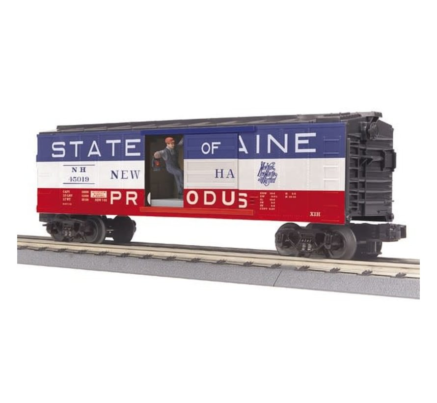 MTH : O NH Operating Box Car w/Signal Man