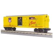 MTH MTH : O UP Operating Box Car w/Signal Man