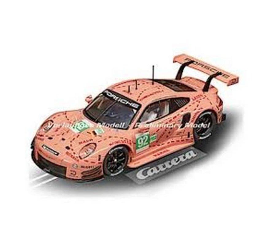 """Carerra : DIG124 Porsche 911 RSR #92 """"Pink Pig Design"""""""