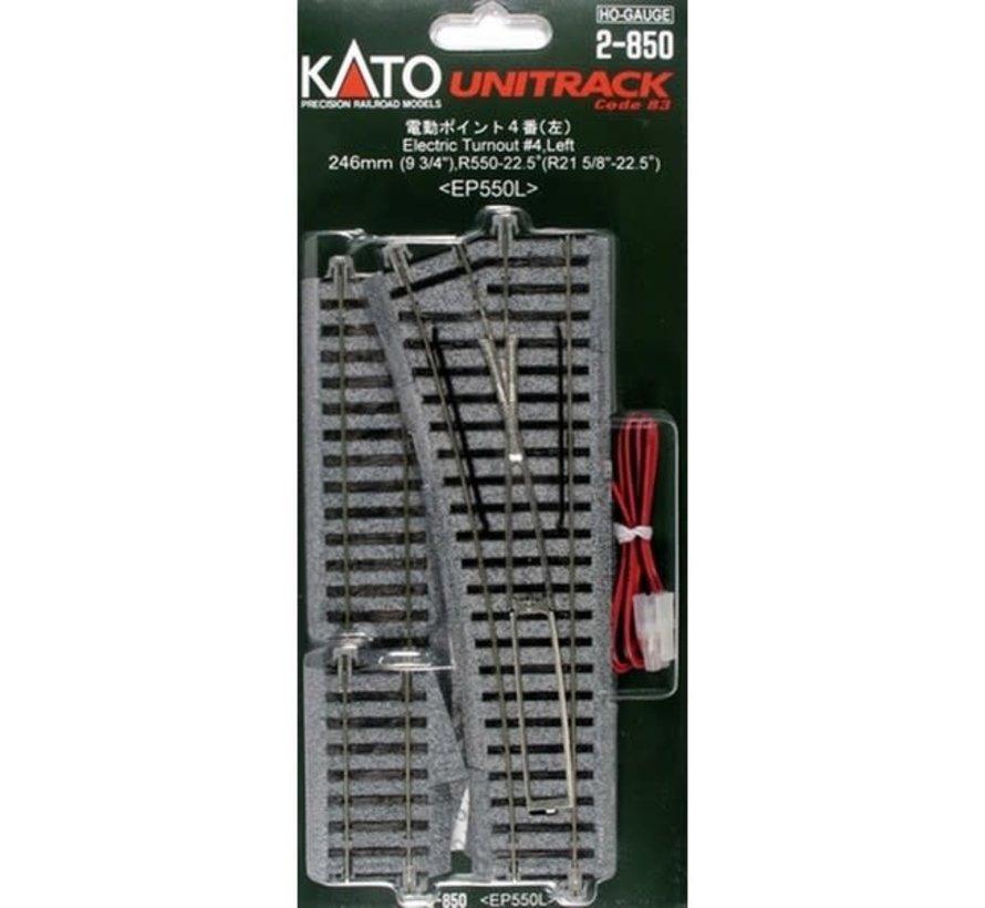 Kato : HO Track #4 Left Manual Switch