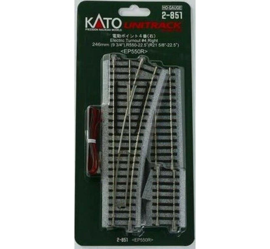 Kato : HO Track #4 Right Manual Switch