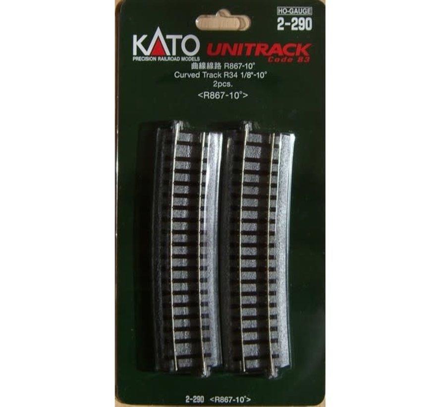 Kato : HO Track 867 Curves