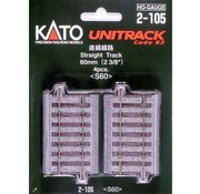 KATO KAT-2105 - Kato : HO Track 60mm Straight 4pcs