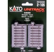 KATO Kato : HO Track 60mm Straight 4pcs