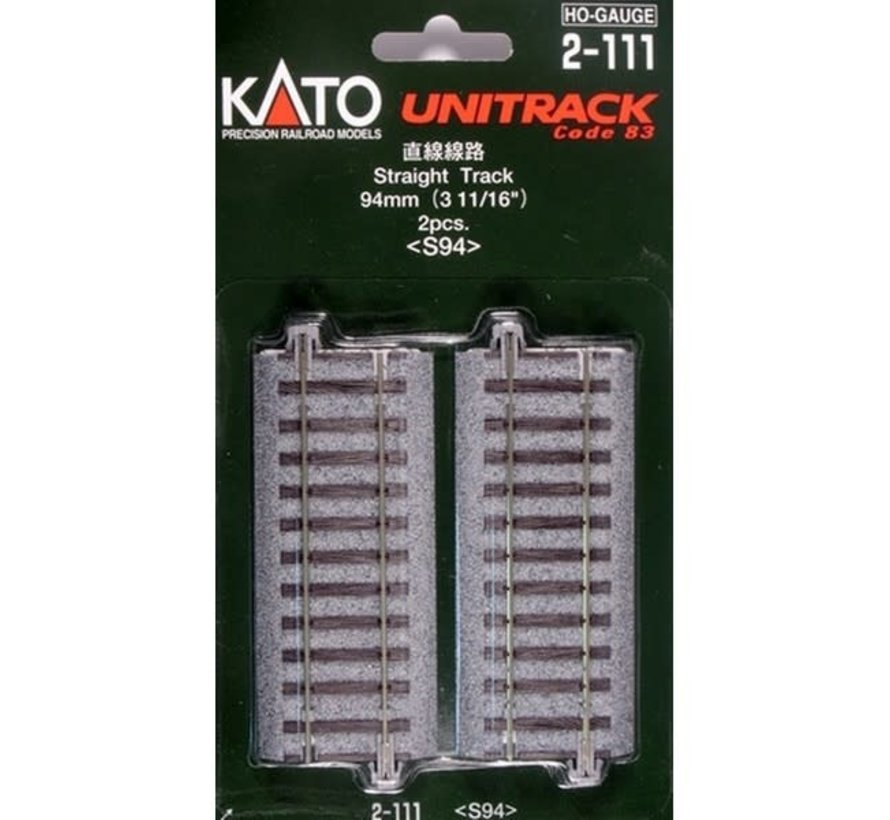 Kato : HO Track 94mm Straight 4pcs