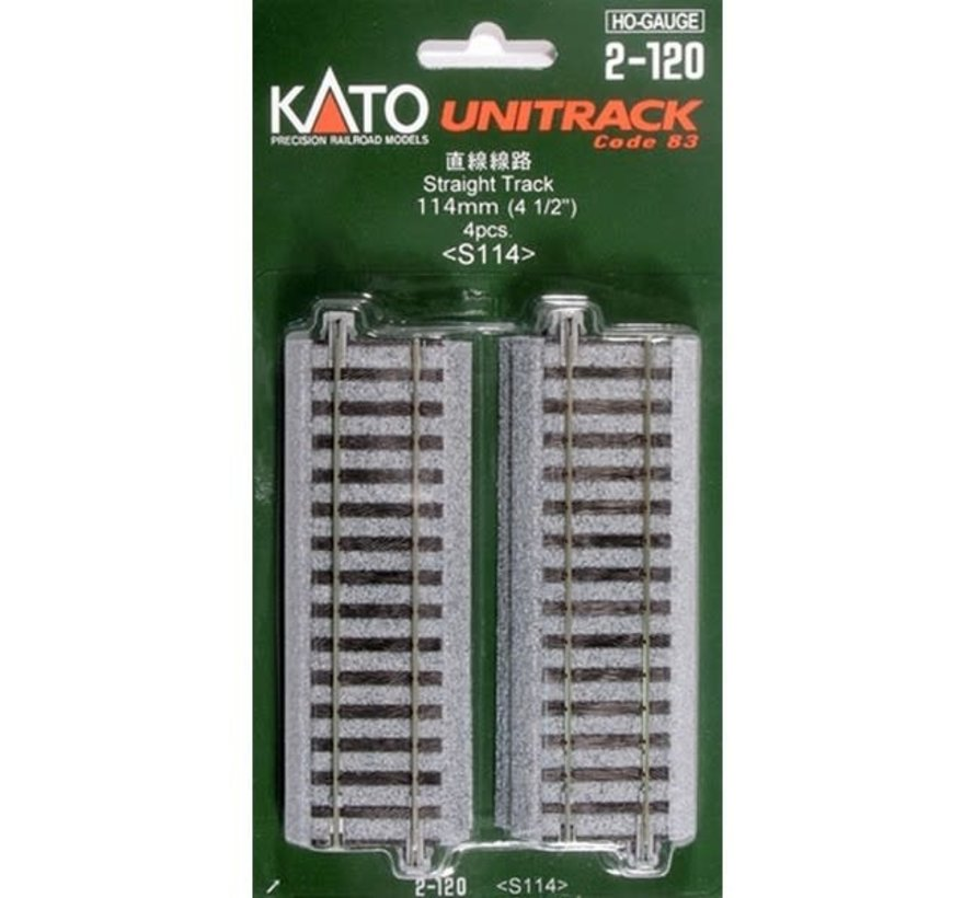Kato : HO Track 114mm Straight