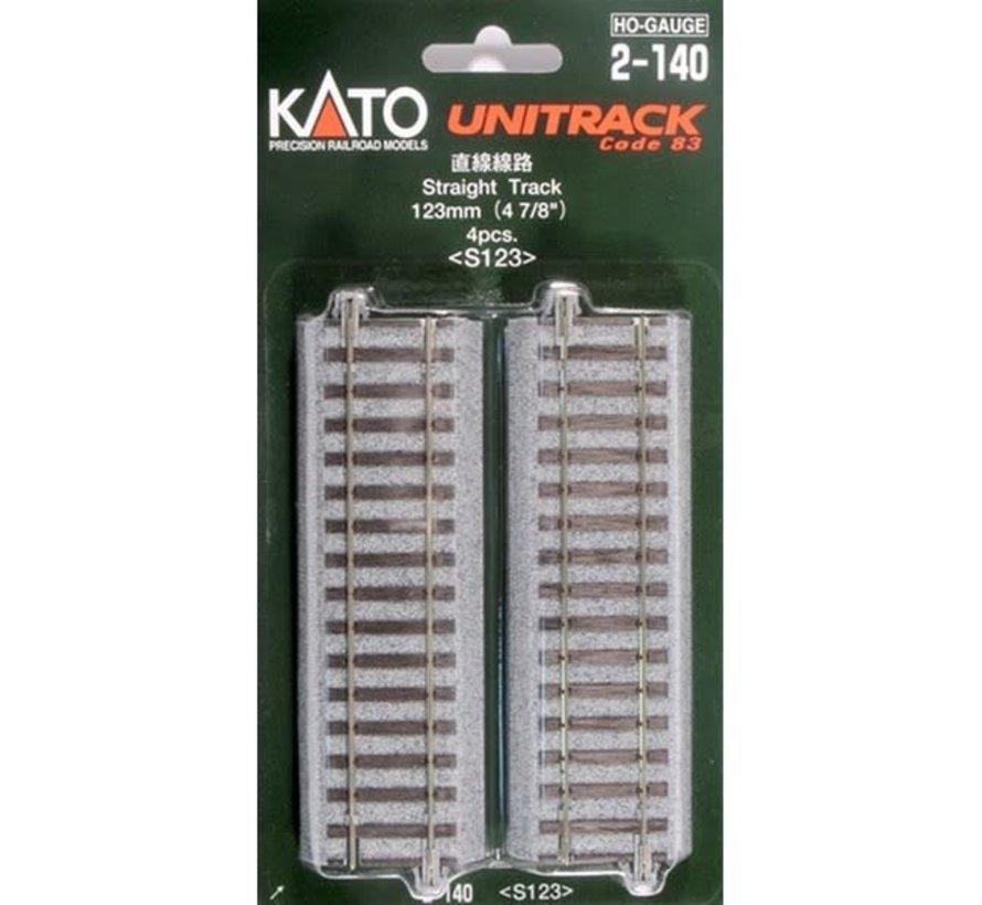 Kato : HO Track 123mm Straight
