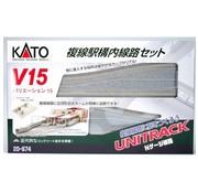 KATO KAT-208-74 - Kato : N Track V15 Double Track  Set
