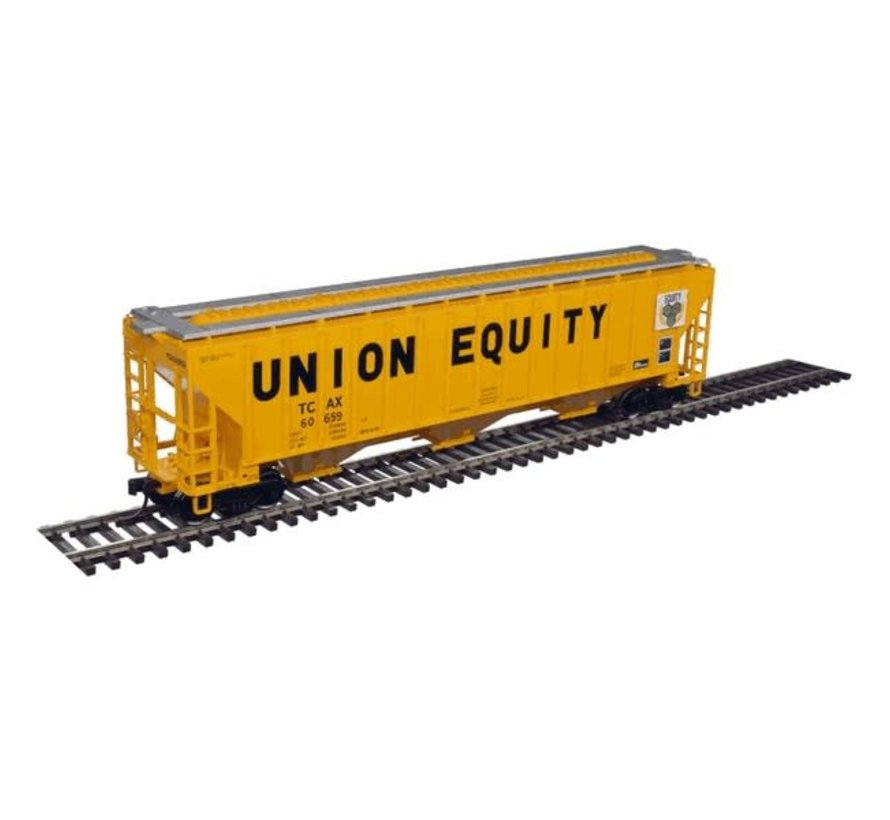 Atlas : HO Thrall 4750 Covered Hopper - Union Equity #60601