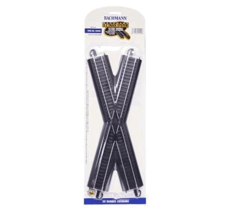 Bachmann : HO EZ Track steel 30 crossing  (Black)