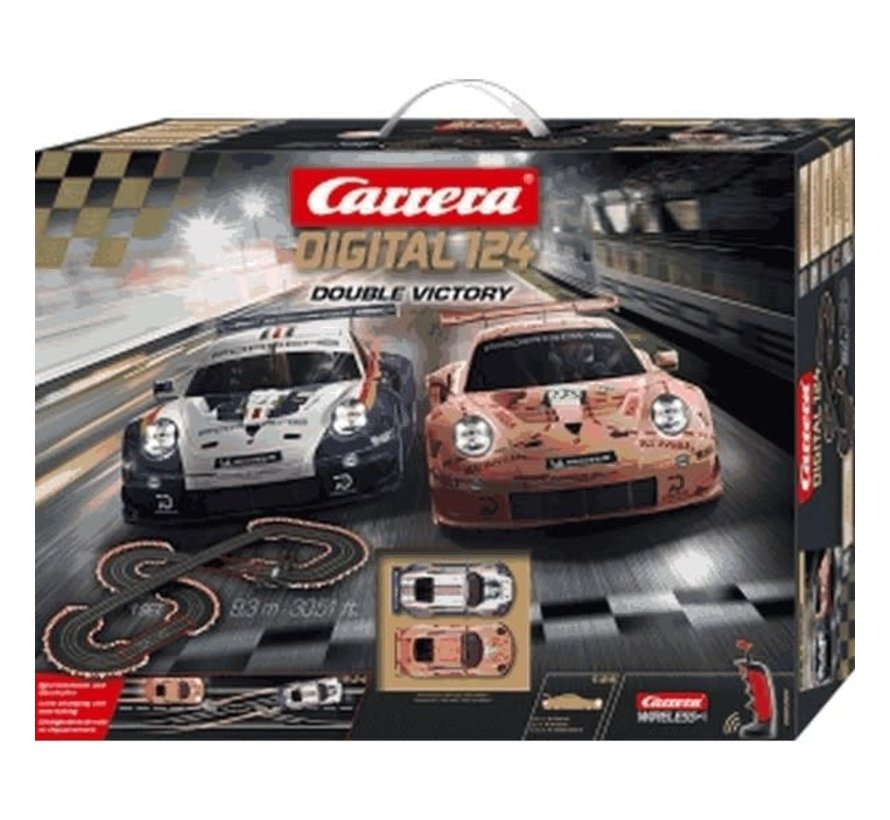 Carrera : DIG124 Double Victory Set, Digital 1/24 w/Lights and Wireless Controllers