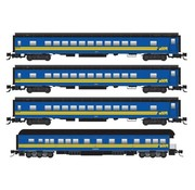 Micro-Trains Micro-Trains : Z VIA Pass Car (4 pack)