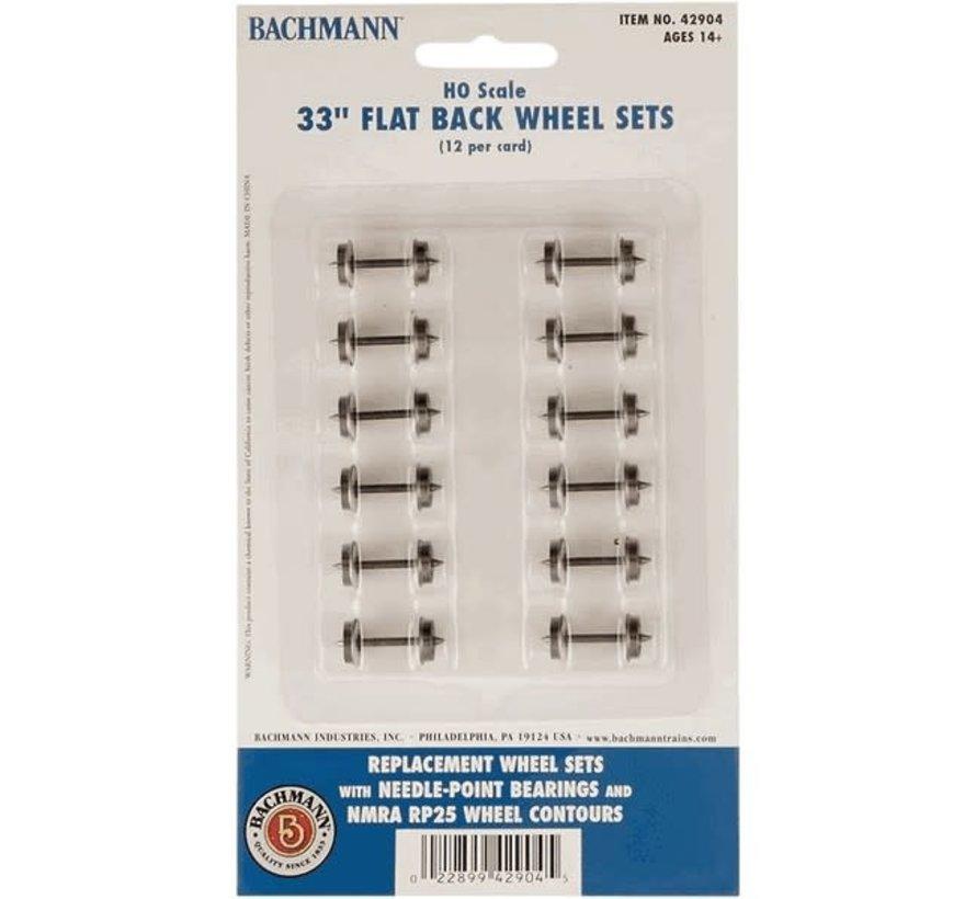 """Bachmann : HO 33"""" Wheel Set (12)"""