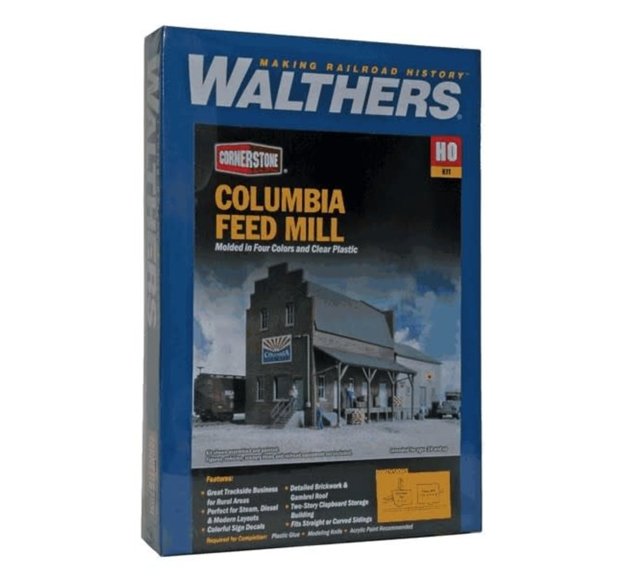 Walthers : HO Columbia Feed Mill Kit