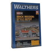 WALTHERS WALT-933-4055 - Walthers : HO Brick Mission Style Depot Kit
