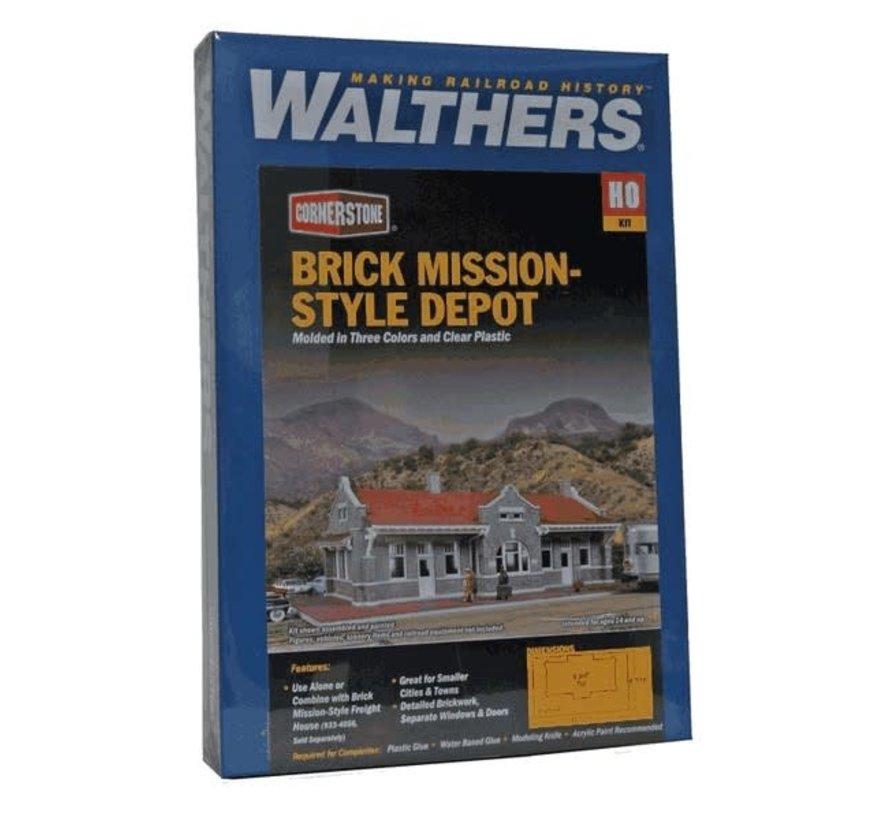 Walthers : HO Brick Mission Style Depot Kit