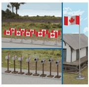 WALTHERS WALT-949-4172 - Walthers : HO Canadian Flags & Mailbox