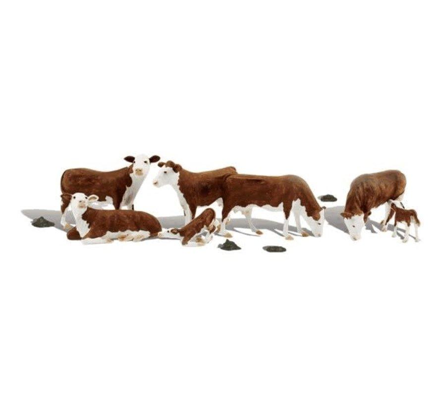 Woodland : HO Cows