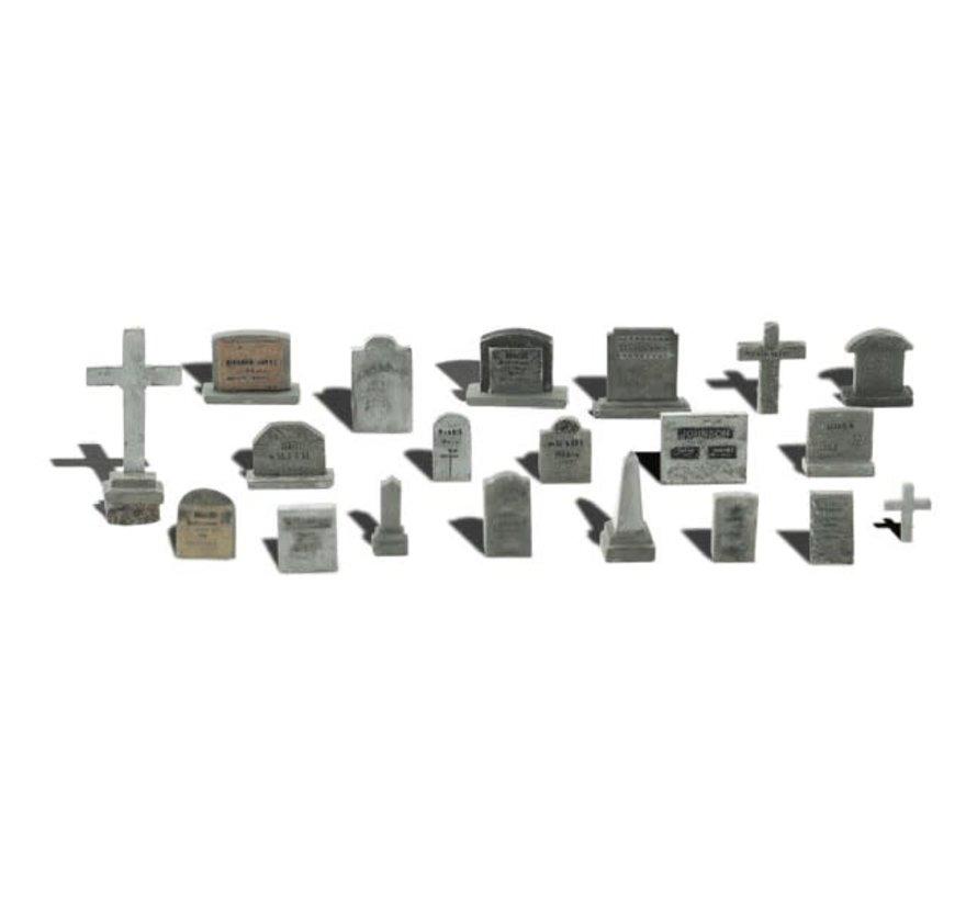 Woodland : HO Tombstones