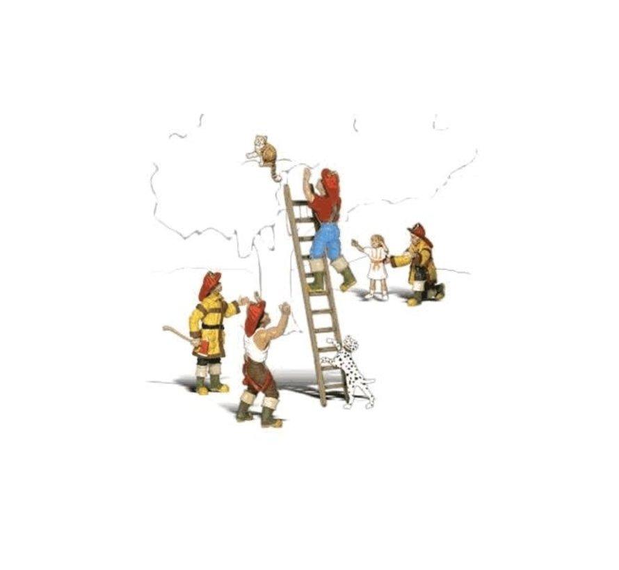 Woodland : HO Firemen