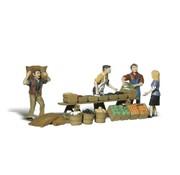 WOODLAND WDS-1896 - Woodland : HO Farmers market