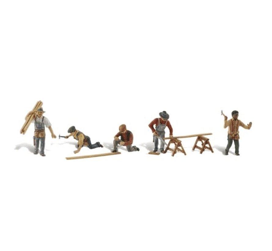 Woodland : HO Carpenter Crew
