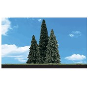"""WOODLAND WDS-3573 - Woodland : Forever Green Trees 6"""" - 7"""""""