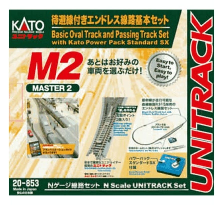 Kato : N M2 Basix Oval and passing Track set w/power pack