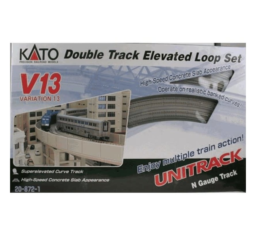 Kato : N Track V13 Double Track Elevated Set