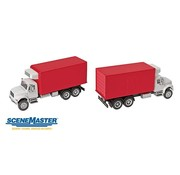WALTHERS WALT-949-11391 - Walthers : HO Intl 4900 2-Axl Rfr Wh/Rd