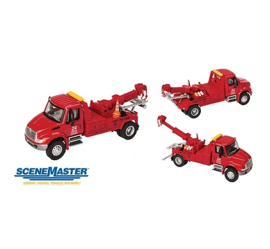 Walthers : HO Intl 4300 Tow Truck Red