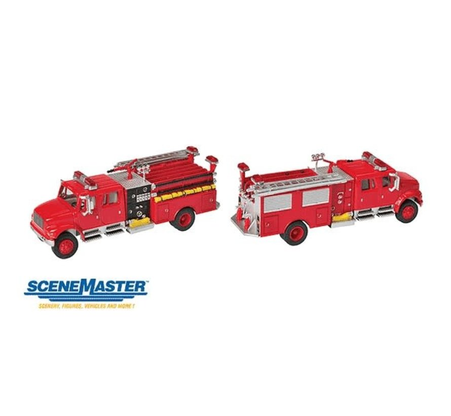 Walthers : HO Intl 4900 Fire Engine Red