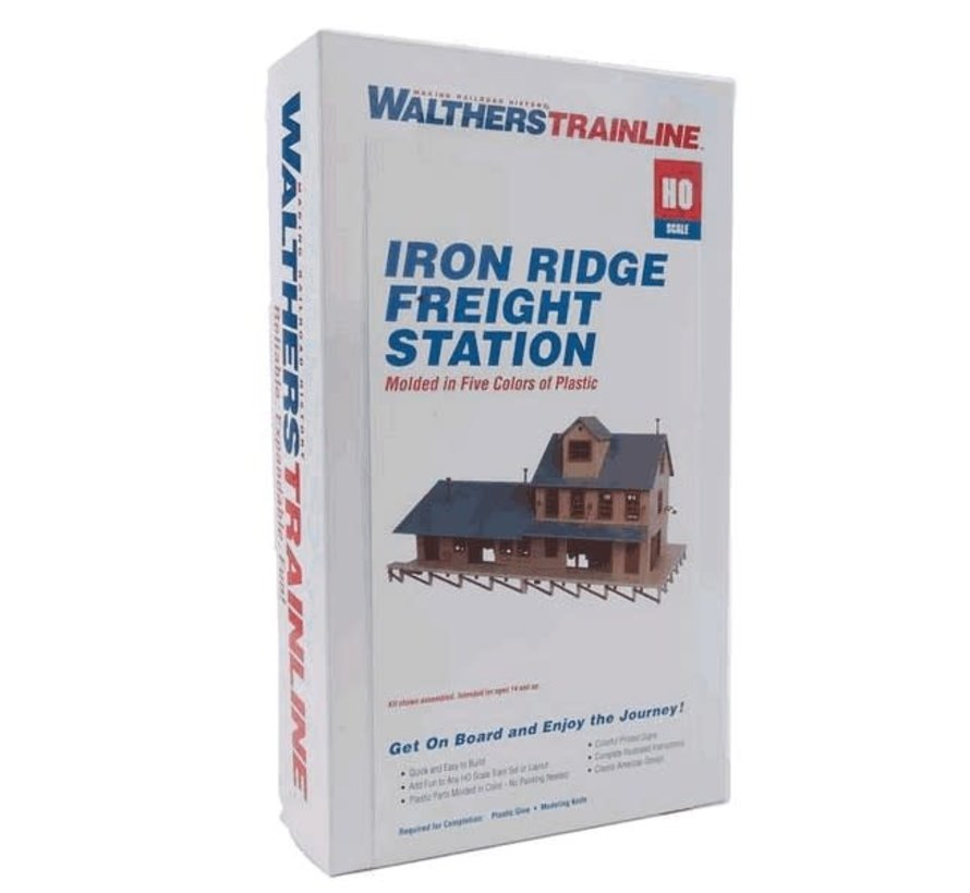 Walthers : HO Iron Ridge Frght Station KIT