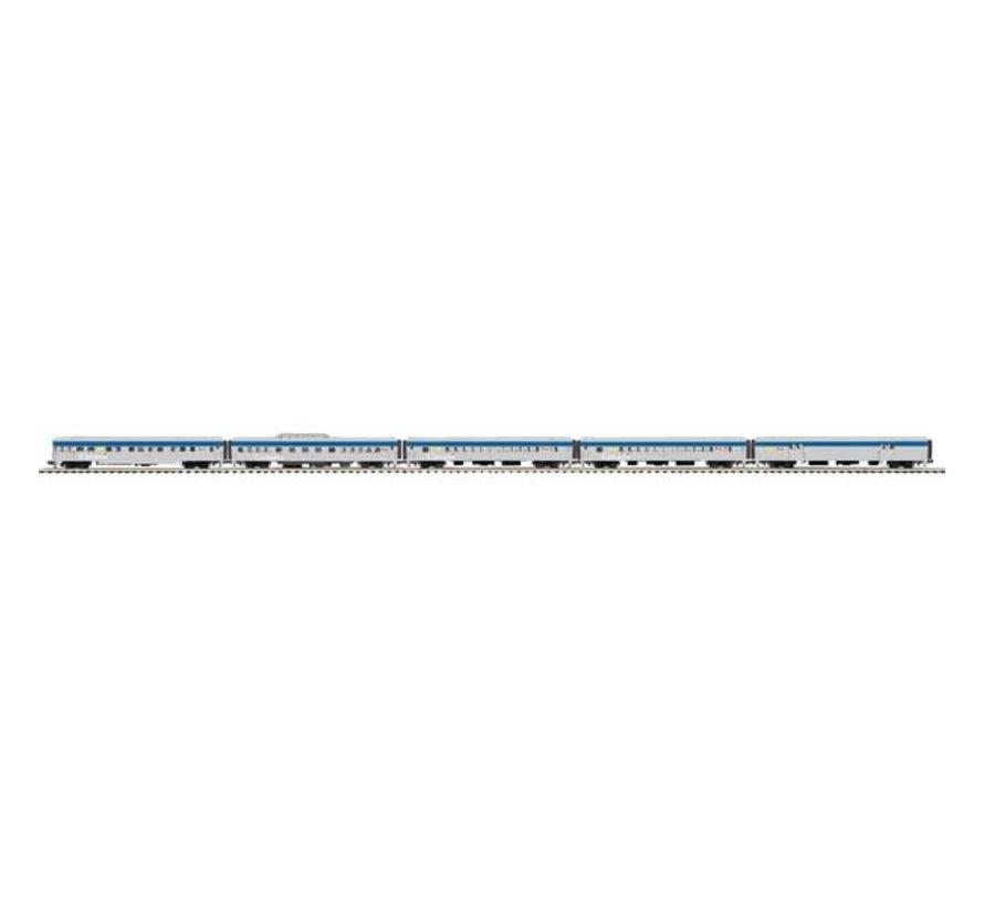 MTH : 0 VIA Rail 5-Car 70' ABS Passenger Set (Ribbed)