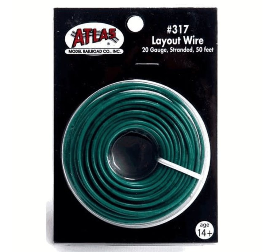 Atlas : HO 22g Wire Red (50 ft)