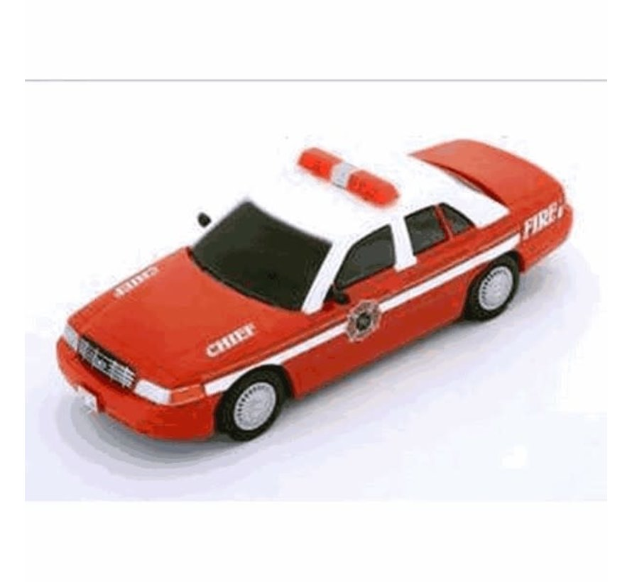 """Carrera : Ford Crown Victoria """"Fire Chief"""" – with flashing"""
