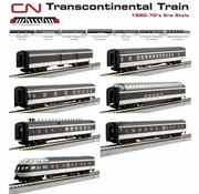 KATO KAT-106-102 - Kato : N CN Transcontinental Set (7 pcs)